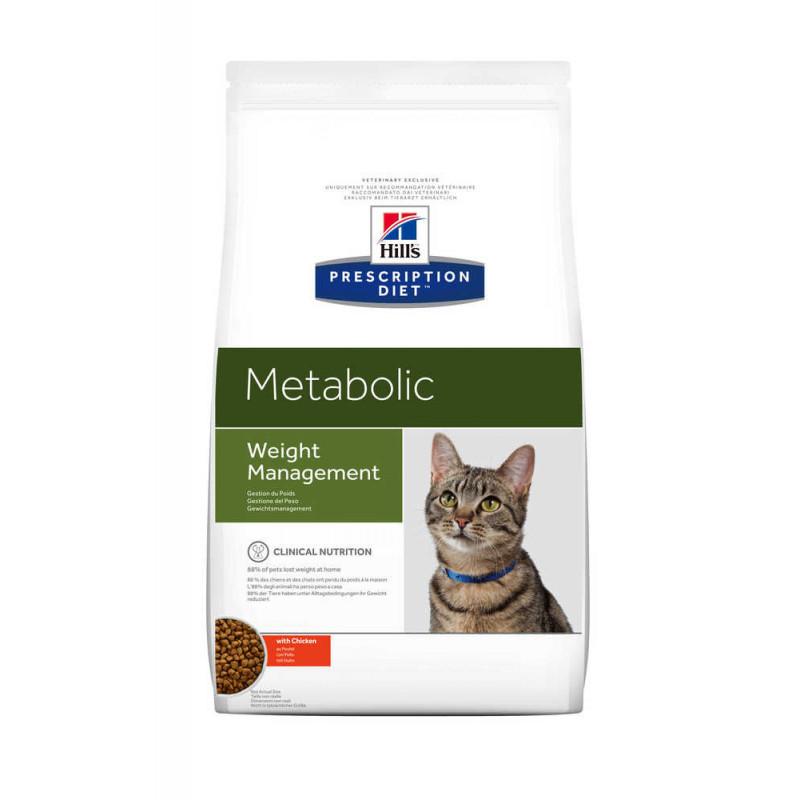 Hill's (Хиллс) Prescription Diet Metabolic Weight Management - Корм-диета для кошек курицей ОЖИРЕНИЕ / ИЗБЫТОЧНЫЙ ВЕС