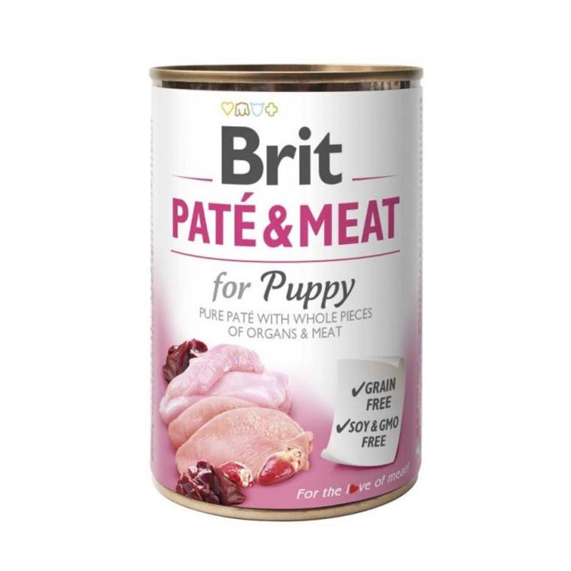 Brit (Брит) PATE & MEAT for Puppy - консервы для щенков с курицей и индейкой