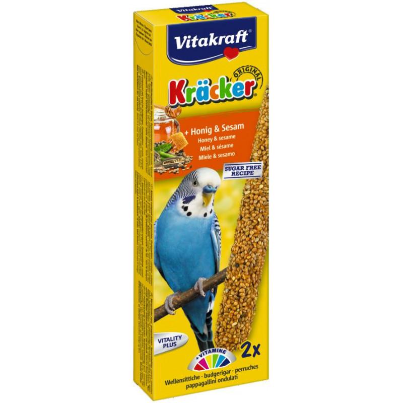 Крекер VITACRAFT для волнистых попугаев с мёдом и кунжутом