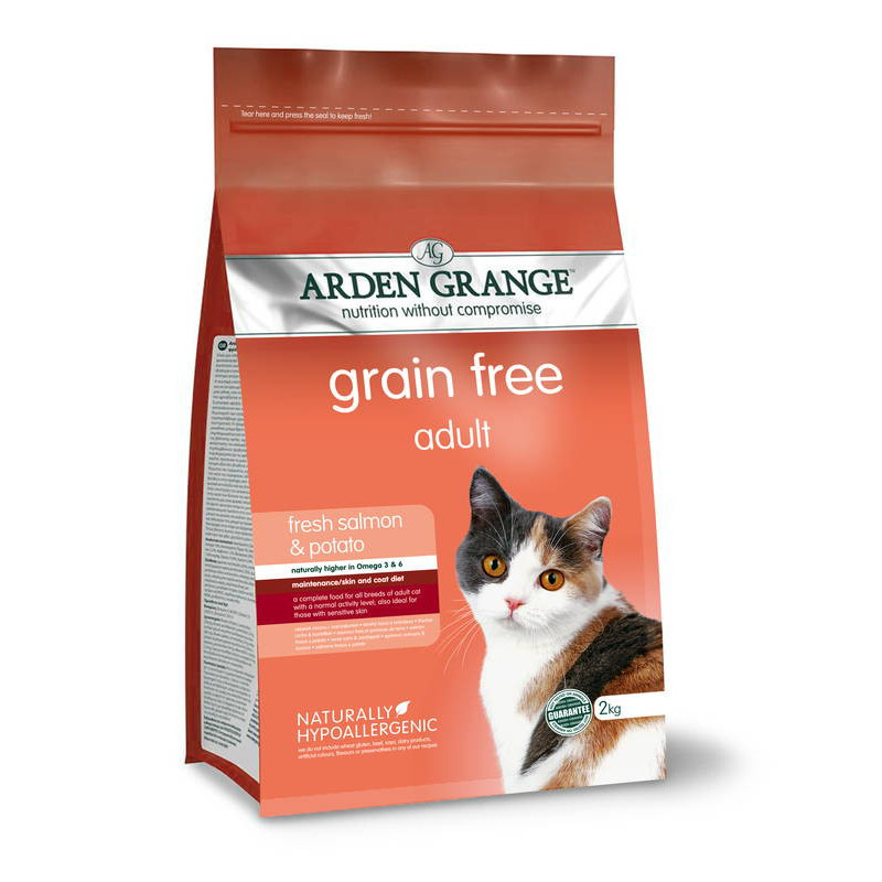 Arden Grange (Арден Гранж) Adult Cat Fresh Salmon & Potato. Сухой беззерновой корм с лососем и картофелем для взрослых кошек