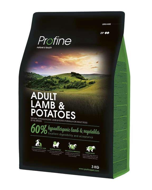 Profine (Профайн) Adult Lamb&Potatoes - Сухой гипоаллергенный корм для взрослых собак с ягненком и картофелем - Фото 2