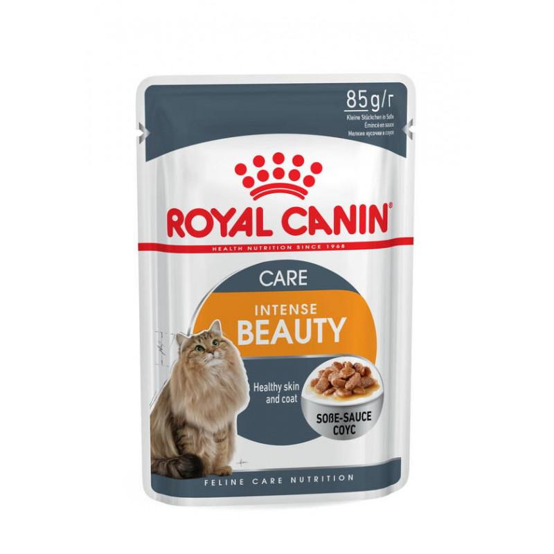 Royal Canin (Роял Канин) Intense Beauty - Консервированный корм для кошек для поддержания красоты шерсти (кусочки в соусе)
