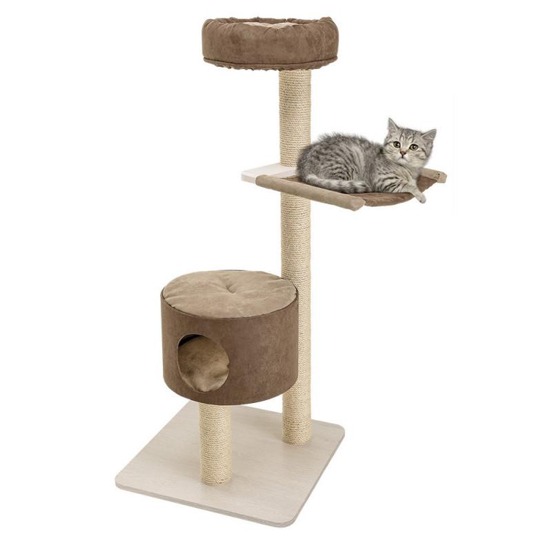 Ferplast (Ферпласт) Zagor - Игровой комплекс для кошек с полочками спальным местом и колоной