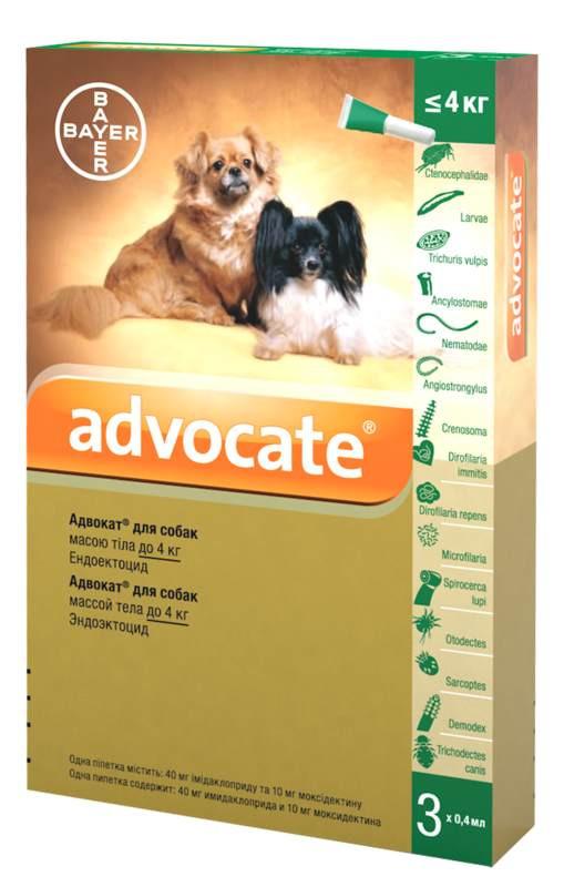 Advocate (Адвокат) by Bayer Animal - Противопаразитарные капли для собак от блох, вшей, клещей, гельминтов (1 пипетка) - Фото 4