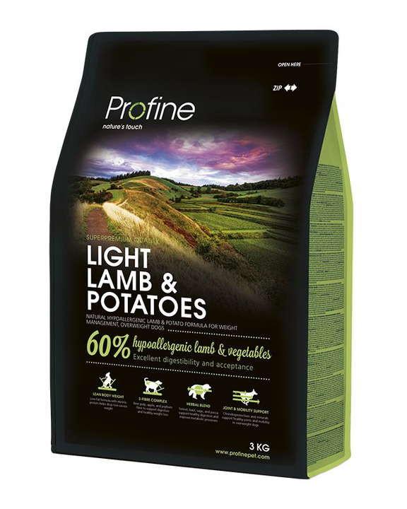Profine (Профайн) Light Lamb&Potatoes - Сухой гипоаллергенный корм для контроля веса собак с ягненком и картофелем - Фото 2