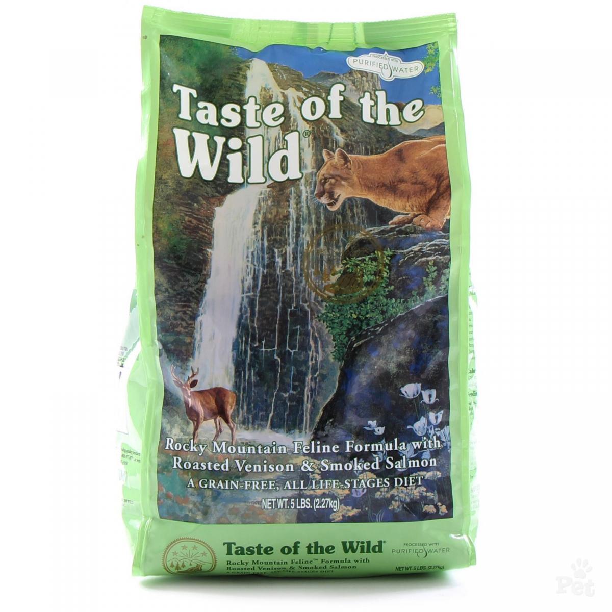 Taste of the wild (Тейст оф зе вилд) Rocky mountain feline formula - Сухой корм с жареной олениной и копченым лососем для кошек - Фото 2