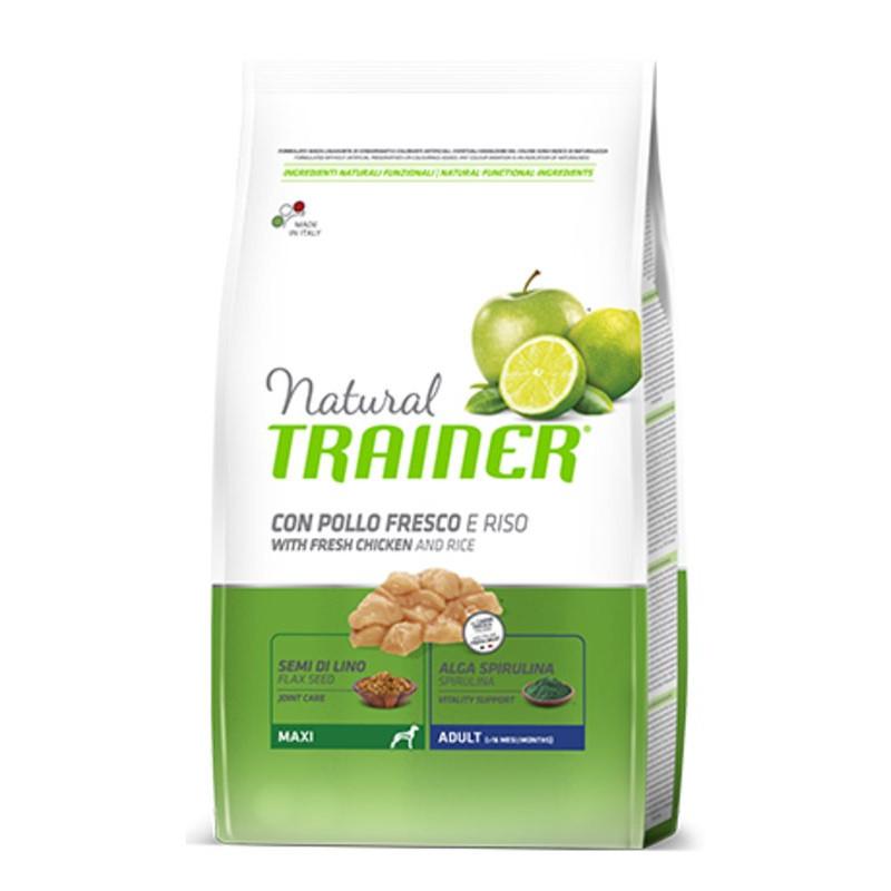 Trainer (Трейнер) Natural Adult Maxi - Сухой корм для собак крупных пород с курицей, рисом и Алоэ Вера