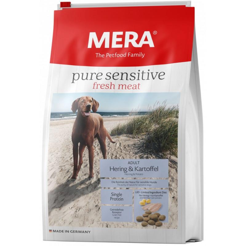 Сухой корм Meradog Pure для взрослых собак-аллергиков с сельдью, крилем и картофелем