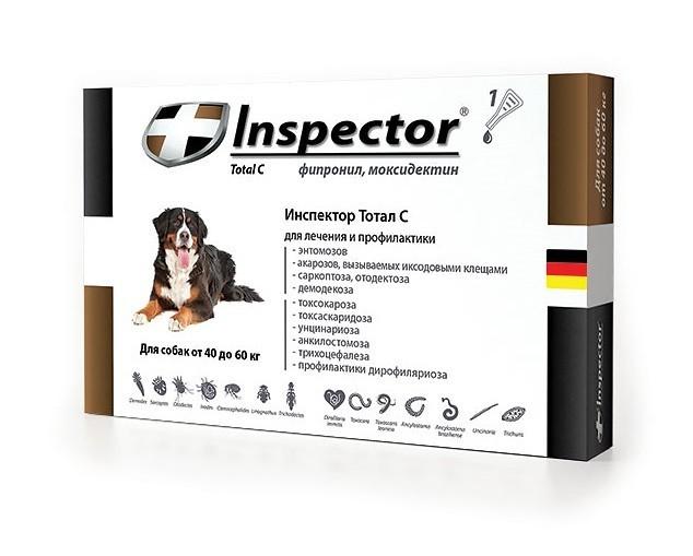Inspector (Инспектор) Total C - Противопаразитарные капли на холку для собак от блох, клещей и гельминтов (1 пипетка) - Фото 3