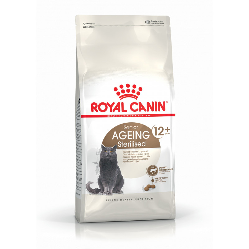 Royal Canin (Роял Канин) Sterilised 12+ - Сухой корм с птицей для стерилизованных котов и кошек старше 12 лет