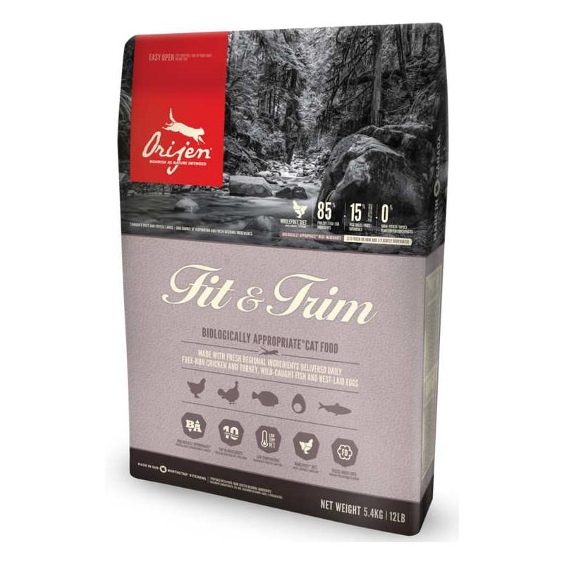 Orijen (Ориджен) Fit&Trim - Сухой корм с индейкой и сельдью для котов страдающих избыточным весом