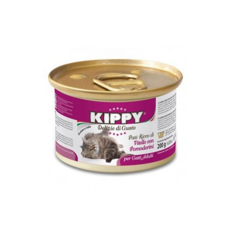 Kippy (Киппи) Cat - Консервы с телятиной и томатами для кошек