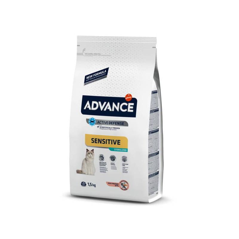 Advance (Эдванс) Sterilized Sensitive - Сухой корм с лососем и рисом для стерилизованных кошек с проблемами пищеварения