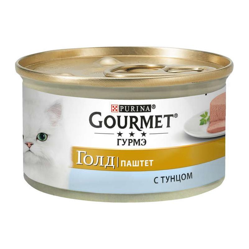 Gourmet Gold (Гурмэ Голд) - Консервированный корм паштет с тунцом для взрослых кошек