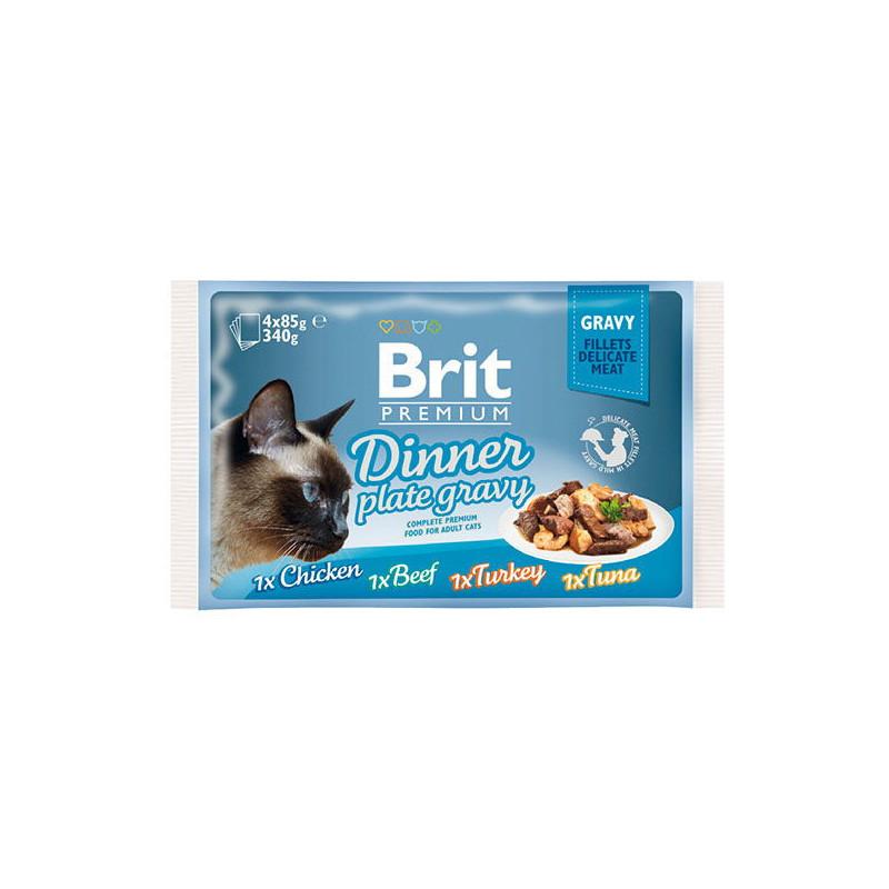 Brit Premium Brit Premium (Брит Премиум) Cat Dinner Plate Gravy - Набор паучей