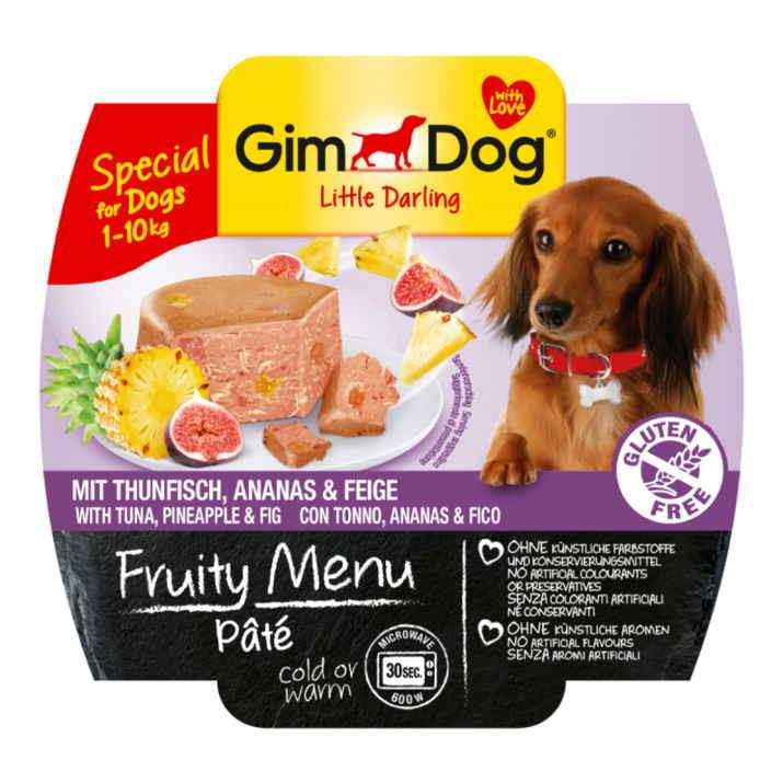 GimDog LITTLE DARLINGD Fruity Menu паштет из тунца с ананасом и инжиром для собак мелких пород
