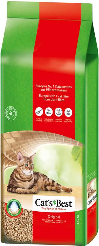 Cat's Best (Кэтс Бест) Original - Древесный хлопьевидный комкующийся наполнитель для кошачьего туалета - Фото 8