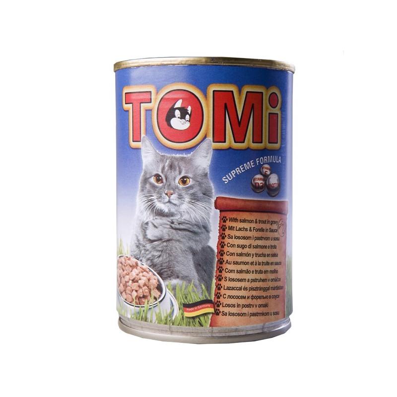 TOMi (Томи) salmon & trout - Консервы с лососем и форелью для котов