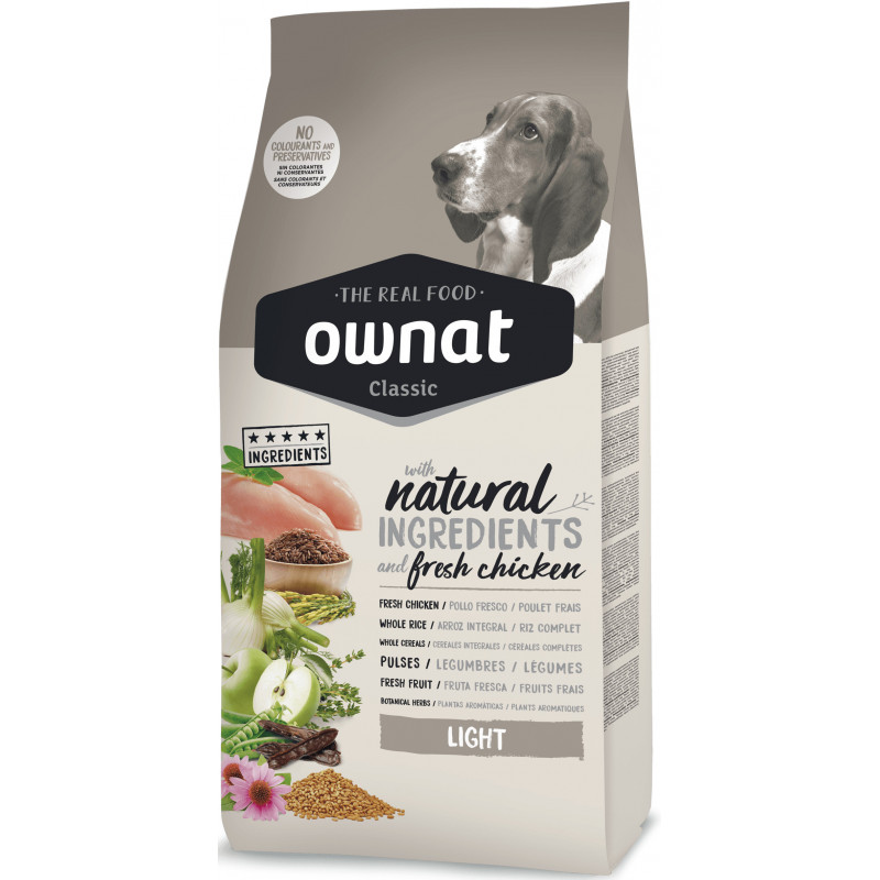 Ownat Classic Dog Adult Light - корм для малоактивных и страдающих лишним весом собак