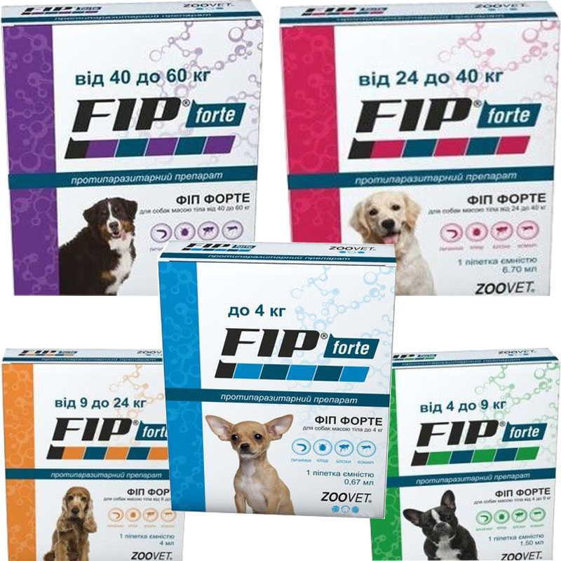 Zoovet (Зоовет) Fip Forte - Капли от блох и клещей для собак различных пород