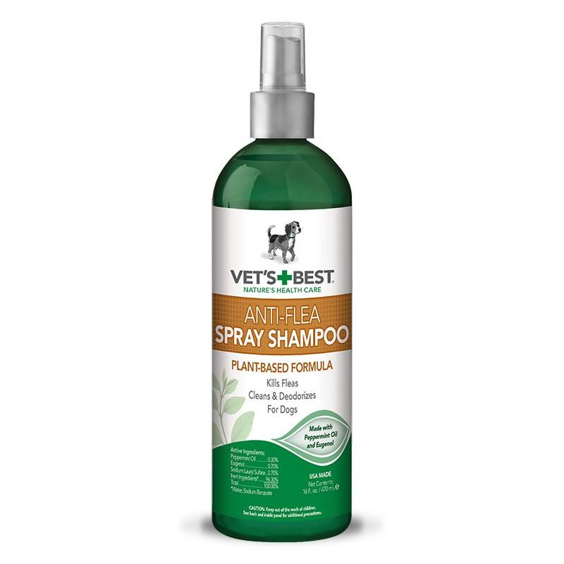 VET`S BEST (Ветс Бест)Anti-Flea Easy Spray Shampoo Шампунь - Спрей от блох для собак