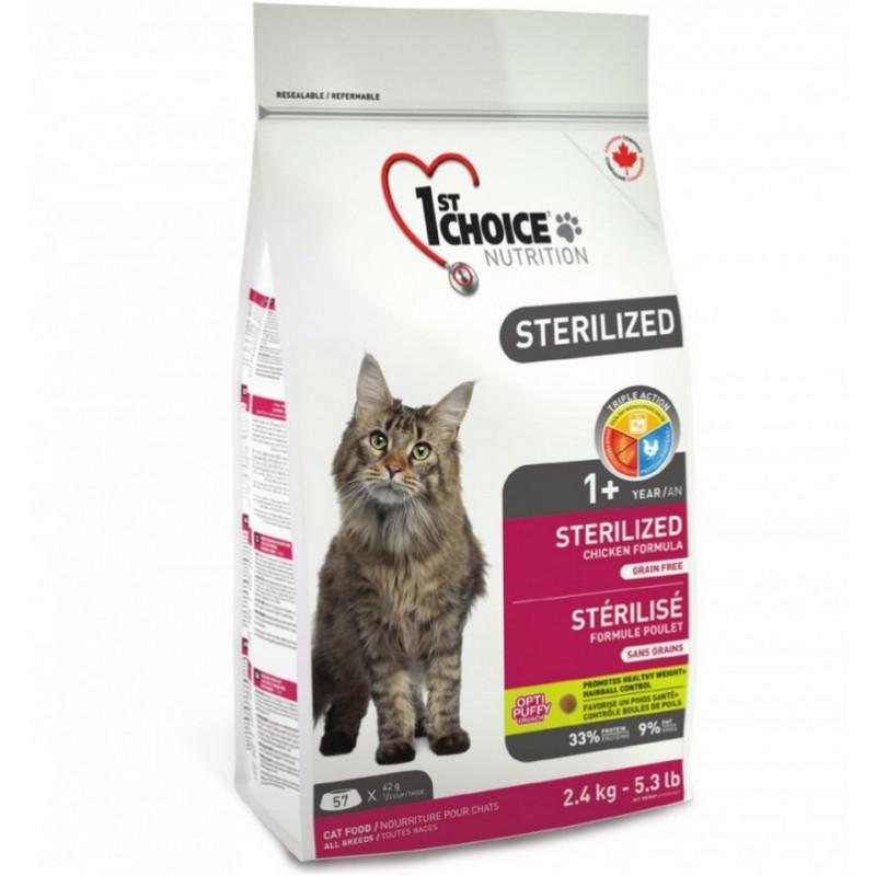 1st CHOICE (Ферст Чойс) Sterilized. Сухой корм с курицей для стерилизованных взрослых кошек