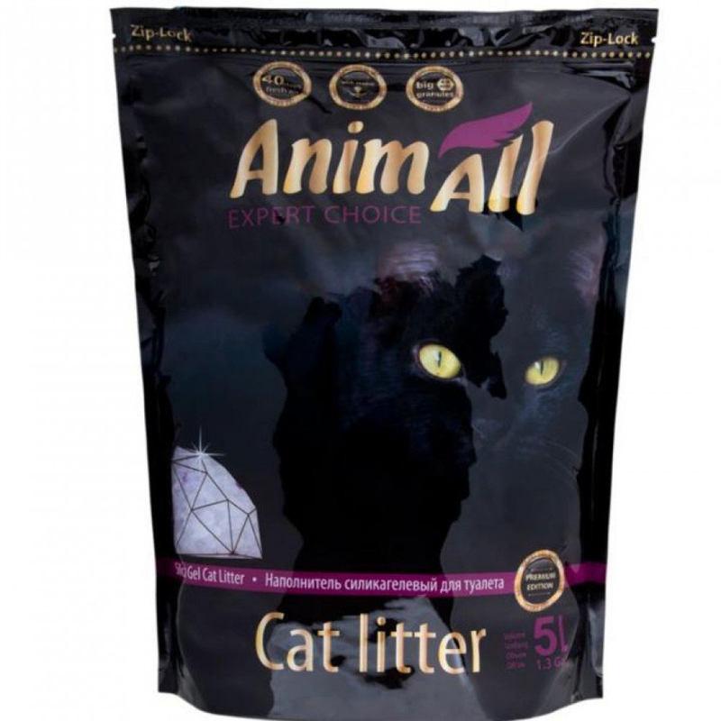 AnimAll (ЭнимАлл) Premium Edition Фиолетовый аметист. Наполнитель силикагелевый для кошачьего туалета