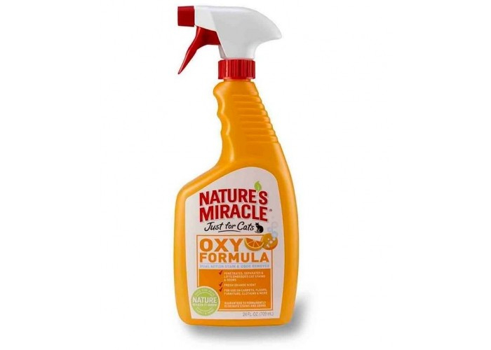 Nature's Miracle (Нейчерс Миракл) Уничтожитель пятен и запахов «Оранж-Окси» для кошек