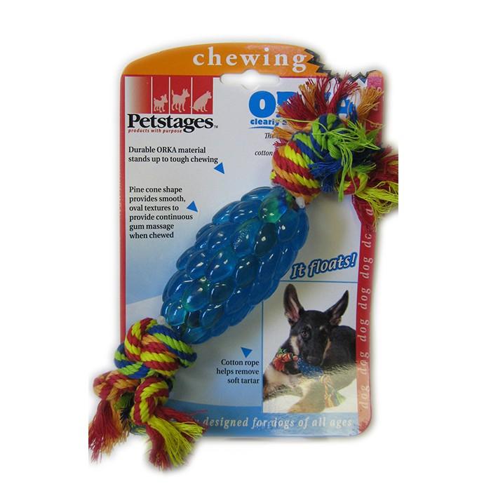 """PETSTAGES Orka Pine Cone Chew Игрушка для собак """"Орка Шишка с канатом"""" - Фото 4"""