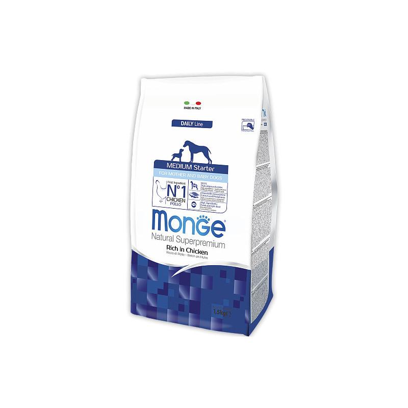 Monge (Монж) Medium Starter - Сухой корм для кормящих самок и щенков средних пород с курицей