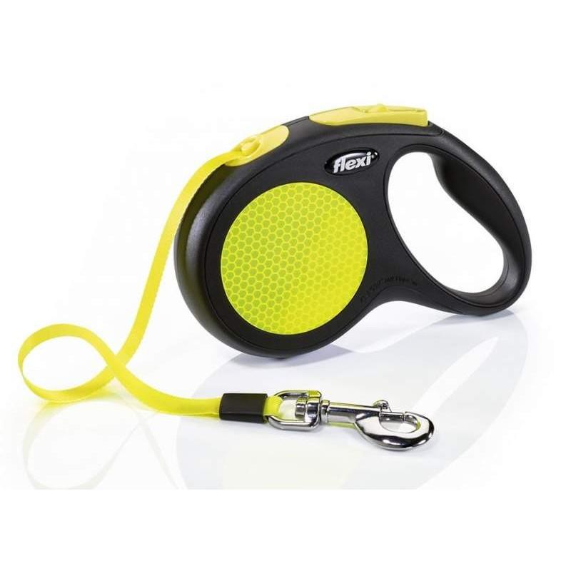 Flexi (Флекси) New Neon - Поводок-рулетка для собак, светящийся в темноте, лента