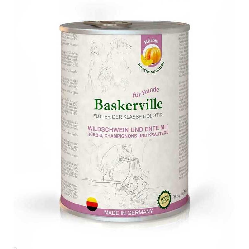 Baskerville (Баскервиль) Holistic Wildschwein und Ente Mit Kurbis - Консервы для собак с мясом кабана, утки и тыквой