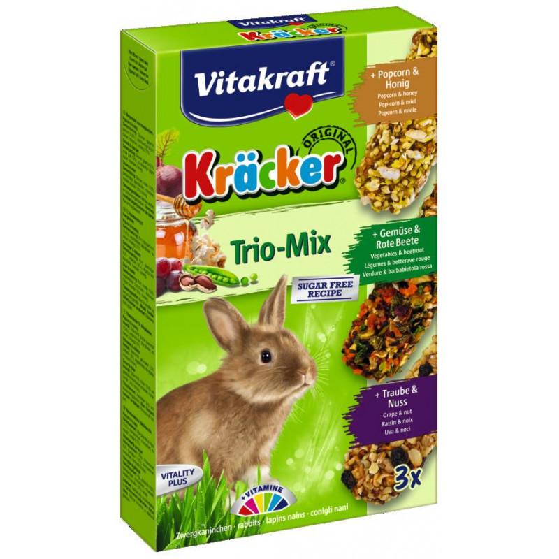 Крекер VITACRAFT Trio Mix для кроликов с овощами и попкорном