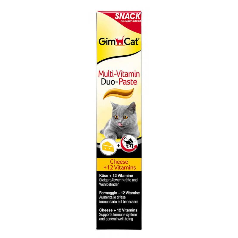 GimCat (ДжимКэт) Multi-Vitamin Cheese & Vitamins Duo-Paste - Мультивитаминная паста для котов с сыром