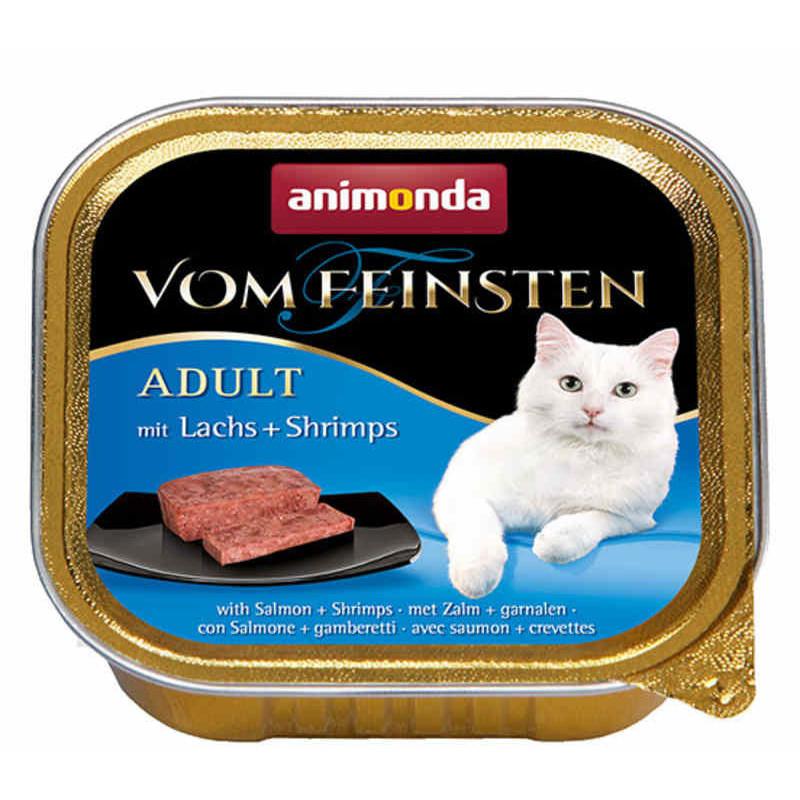 Animonda (Анимонда) Vom Feinsten Adult - Консервированный корм в виде паштета с лососем и креветками для взрослых кошек