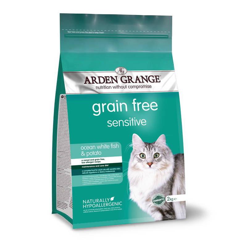 Arden Grahge (Арден Грандж) Adult Sensitive Cat Food Ocean White Fish and Potato - Сухой беззерновой корм с океанической рыбой и картофелем для кошек