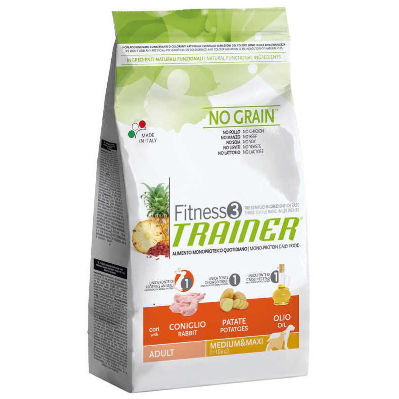 Trainer (Трейнер) Fitness 3 Adult Mini With Rabbit Potatoes Oil  - Сухой корм для взрослых собак маленьких пород (с кроликом)