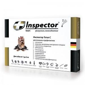 Inspector (Инспектор) Total C - Противопаразитарные капли на холку для собак от блох, клещей и гельминтов (1 пипетка) - Фото 4