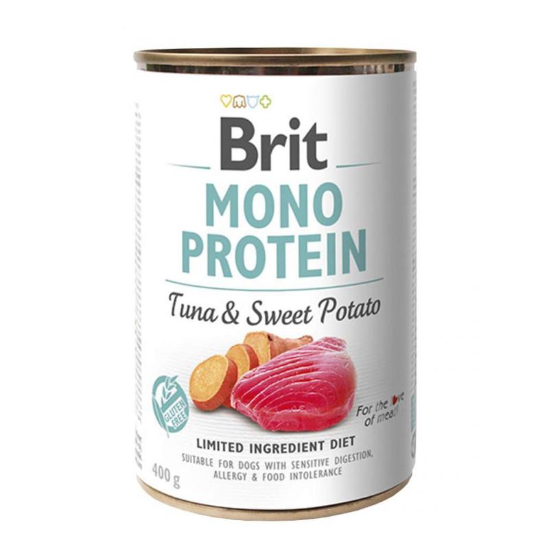Brit (Брит) Mono Protein Tuna & Sweet Potato Консервы для собак с тунцом и сладким картофелем