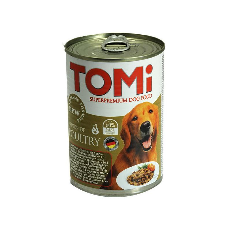 TOMi 3 kinds of poultry TOMi Lamb Супер премиум корм для собак , консервы с 3-мя видами птицы