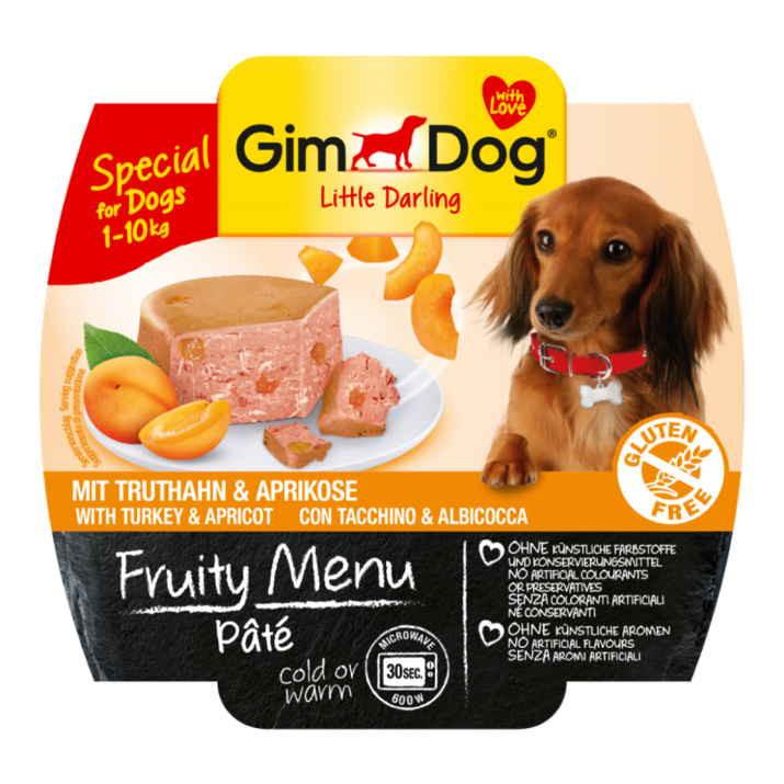 GimDog LITTLE DARLINGD Fruity Menu паштет с индейкой и абрикосом для собак мелких пород