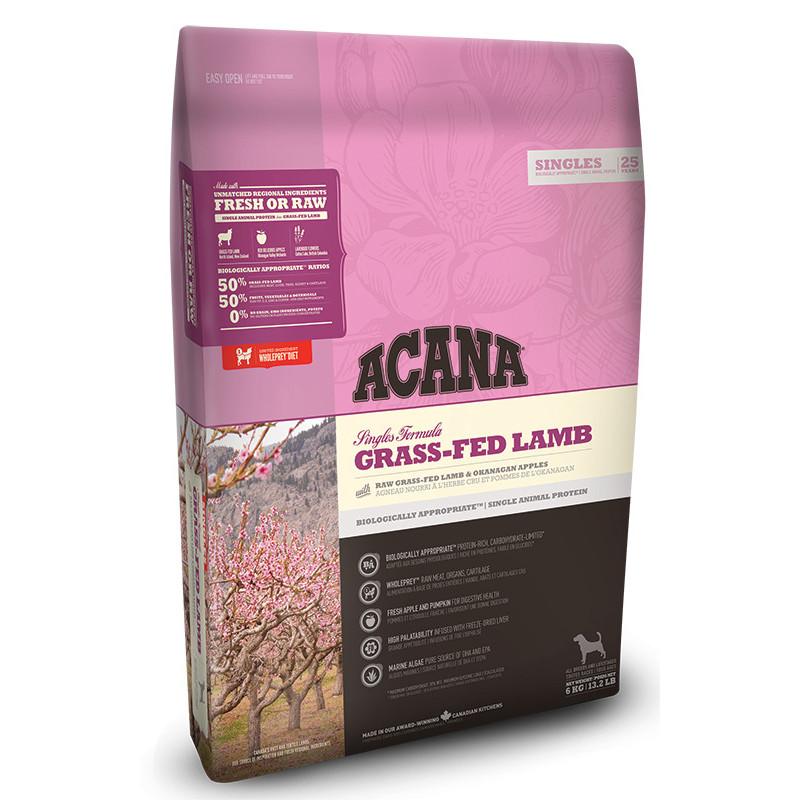 Acana (Акана) GRASS-FED LAMB - Сухой корм с ягненком для собак всех пород на всех стадих жизни с чувствительным пищеварением