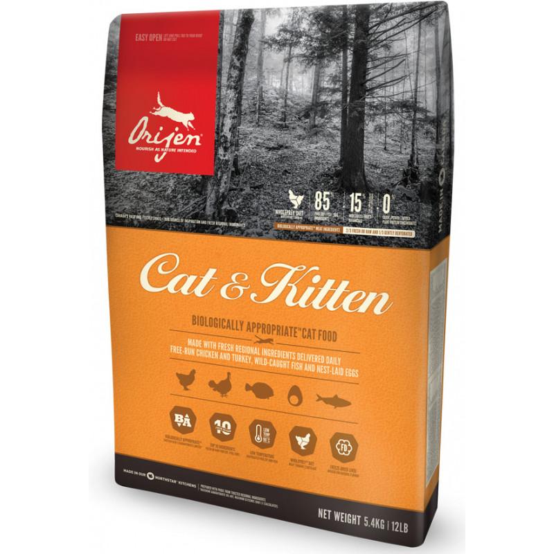 Orijen (Ориджен) Cat&Kitten - Сухой корм с индейкой и камбалой для котят и кошек