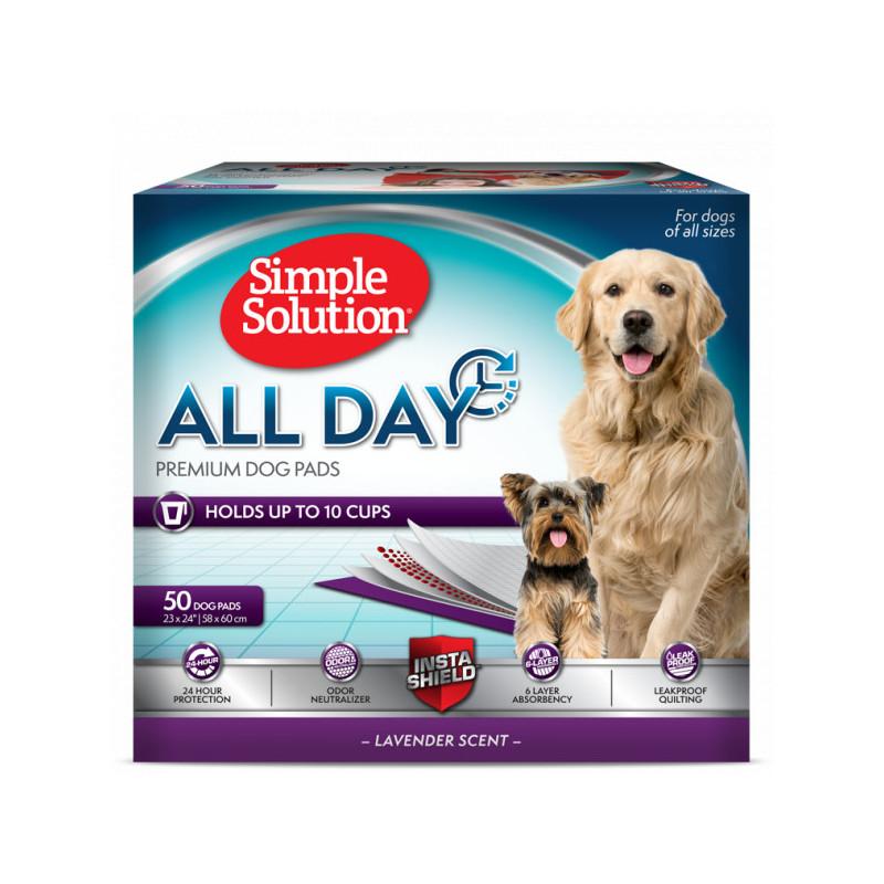 Пелёнки высокой степени впитываемости Simple Solution All Day для собак с ароматом лаванды