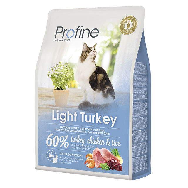 Profine (Профайн) Cat Light - Сухой корм с индейкой для контроля веса котов и кошек - Фото 2