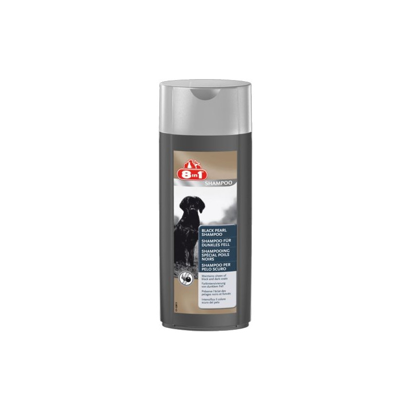 8in1 Black Pearl шампунь для собак с тёмным окрасом