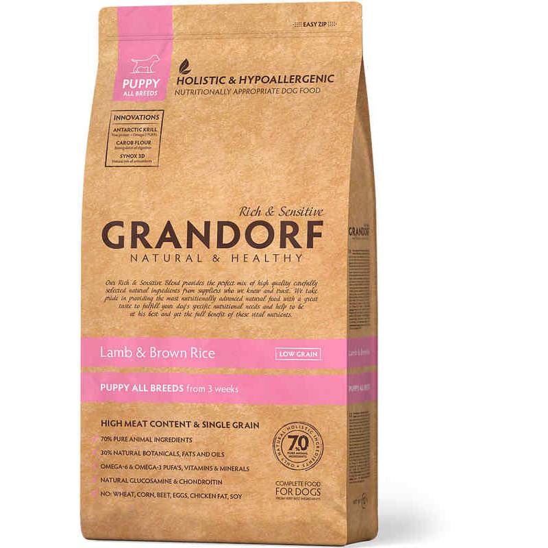 Grandorf (Грандорф) Holistic Lamb & Brown Rice Puppy -для щенков ЯГНЕНОК С РИСОМ