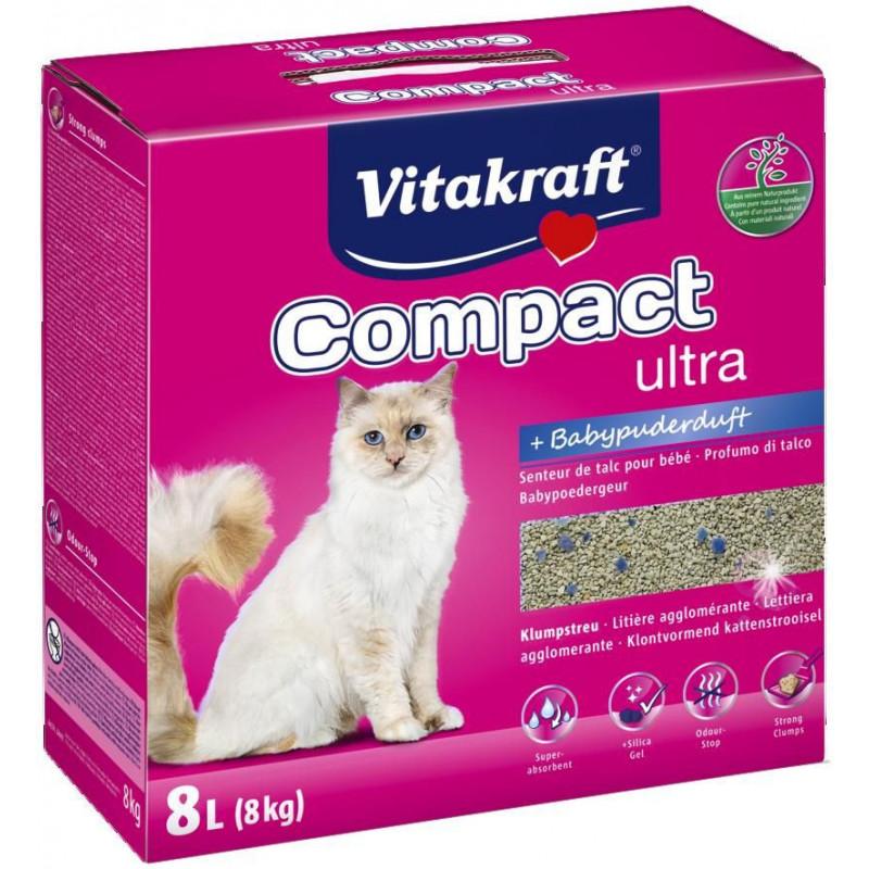VITACRAFT (Витакрафт) COMPACT ULTRA PLUS. Наполнитель кошачий для туалета с ароматом талька