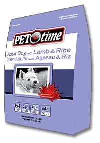 PET TIME Lamb&Rice Adult dog food