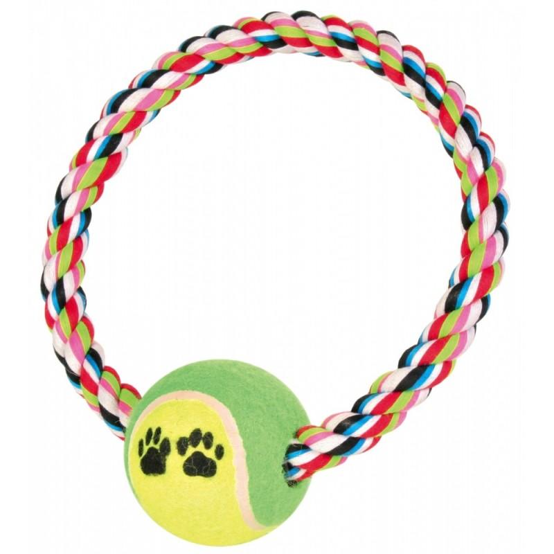 Trixie (Трикси) Игровой канат с теннисным мячом